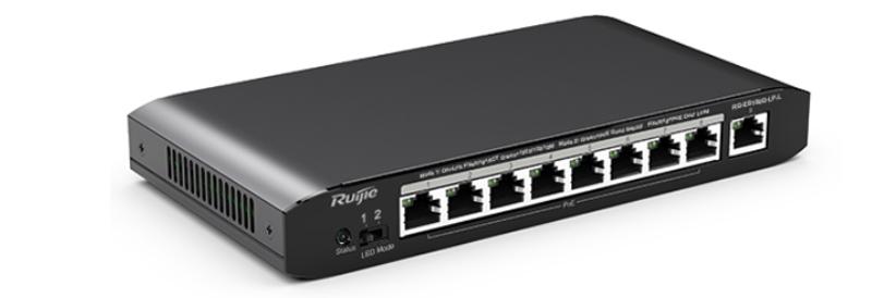 Thiết bị mạng ổ chia mạng Switch Ruijie RG-ES109G-LP-L 8 cổng 10/100/1000BASE-T